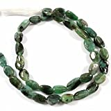 #9: Goyal Impex 1 Strand Natural Plain Smooth Emerald Gemstone Fancy oval Shape Beads 13