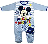 Mickey Mouse Kollektion 2017 Strampelanzug 56 62 68 74 80 86 92 Strampler Einteiler Maus Disney Blau (Blau-Hellblau, 80-86; Prime)