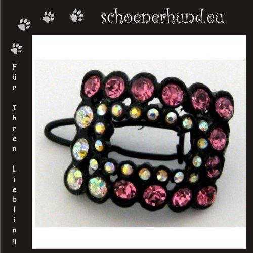 Artikelbild: Haarschmuck für Hunde mit funkelnden Strass - Exklusive Haarspange von Dogs Stars - Haarclipp rosa