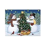 ZHOUBA Schneemann Weihnachtsbaum 5D Full Diamond Malerei Wall Dekorative Handwerk Tool Kit Multi