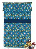 Juego de sabanas INFANTIL PATRULLA AZUL 3 PIEZAS Cama de 90 x 190/200. Encimera ( 160 X 260 cm )+ 1 FUNDA DE ALMOHADA ( 45 X 110 )+ sabana bajera ajustable 90 X 190/200 cm. ALGODÓN 100%
