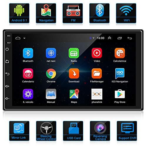 ANKEWAY Android 9.1 Car Radio GPS Navigation Autoradio Bluetooth/WiFi Car Stereo 2 DIN 7 Pollici 1080P HD Touch Screen 1G/16G Car Multimedia Radio e