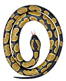 Wild Republic 20775 Rubber Snake Small Ball Python 117 cm, Black, Yellow