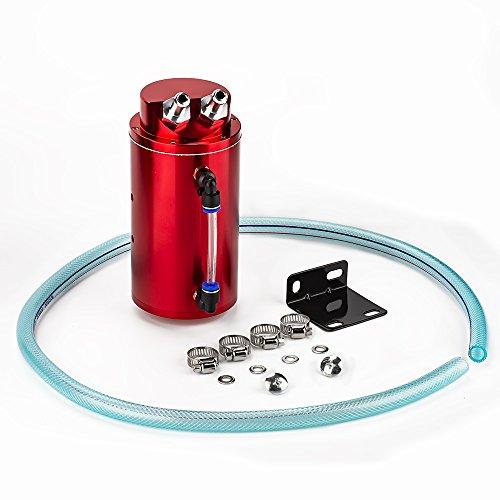 Universal-Aluminium-Legierung Reservoir Öl Fangen kann Tank Auto Billet Runde Turbo Reservoir kann Kit