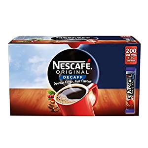 NESCAFÉ Original Instant Decaffeinated Coffee Stick Packs, Box of 200