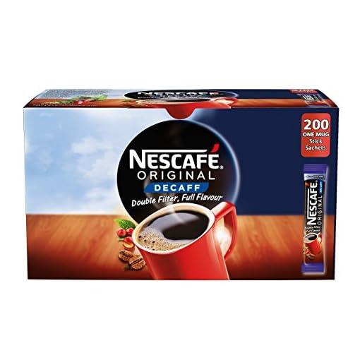 NESCAFÉ Original Instant Decaffeinated Coffee Stick Packs, Box of 200
