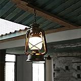 GBYZHMH Retro alte Petroleumlampe altes Öl Lampe Laterne Bar Cafe schmiedeeisernen Kronleuchter A++ (Größe: Extra große rote 195 * 950 mm)