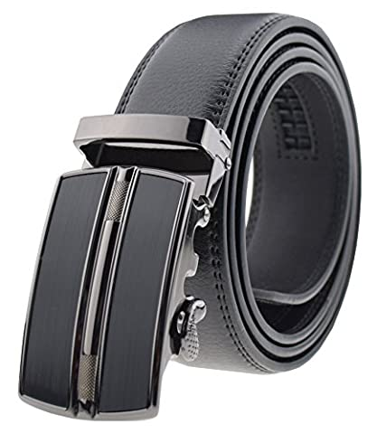 QISHI YUHUA PD Men's Fashion trends Cowhide Leather Belt Automatic Buckle Belt (Suitable for 20