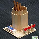 Imtion Ice Cream Stick Wooden [ Pack Of 800 Pc ] Ice Cream Sticks [ Free 100 Pcs Decoration Stones ] Popsicle Sticks Use Of Project Work ([ Pack Of 800 PC ])