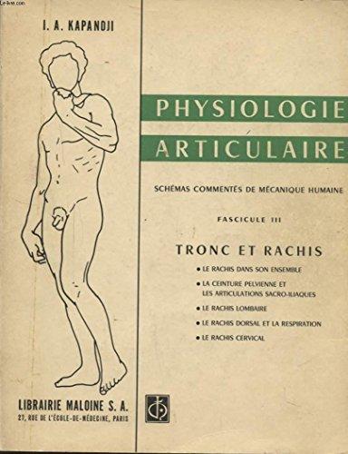 PHYSIOLOGIE ARTICULAIRE -SCHEMAS COMMENTES DE MECANISME HUMAINE FASCICULE III TRONC ET RACHIS -LE RACHIS DANS SON ENSEMBLE -LA CEINTURE PELVIENNE ET LES ARTICULATIONS SACRO ILIAQUES.