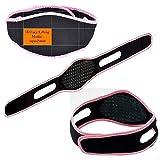 ALW CZs.r.o. Anti schnarch Bandage snore Stopper stoppt das Schnarchen für Sie und Ihn geeignet Lieferumfang 1 Stück Farbe schwarz/rose