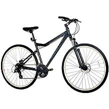 """Monty  TREKKING- 7 - Bicicleta montaña unisex de 24 velocidades, cuadro de aluminio talla 19"""", frenos disco, horquilla aluminio y ruedas de 28"""", color gris"""