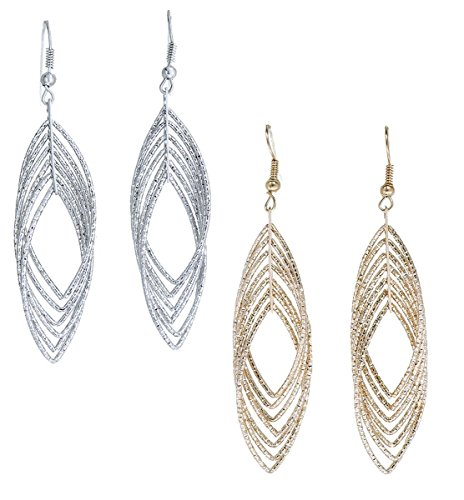 gold-and-luster-women-jewelry-drop-dangle-earrings-set-diamond-cut-silver-and-gold-plated-2-pairs-lo