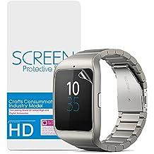 Sony Smartwatch 3 Protector de Pantalla,Vikoo Dureza 3H Alta Definición Película de La Pantalla a Prueba de Explosiones Explosion-proof Screen Protector para Sony Smartwatch 3(2 piezas)