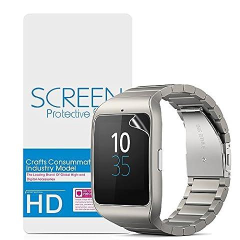 Sony SmartWatch 3 Protecteur D'écran,Vikoo Dureté 3H Haute Définition Film écran Anti-déflagrant(2 pièces)Explosion-proof Screen Protector pour Sony SmartWatch 3