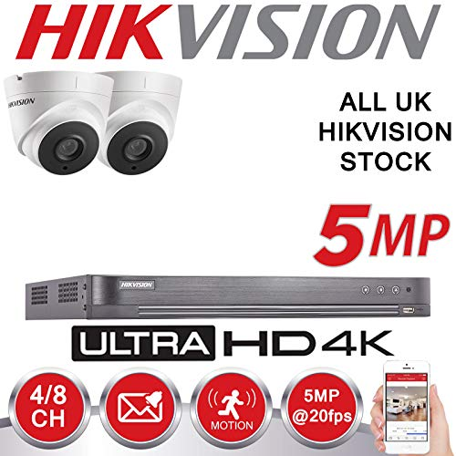 HIKVISION 5MP CCTV SYSTEM 4K UHD DVR 4CH HD OUTDOOR CAMERA HOME SECURITY  KIT (2TB HDD)
