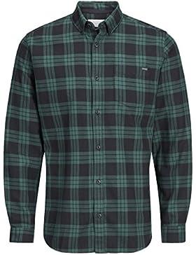 Jack & Jones -  Camicia Casual  - A quadri - Con bottoni  - Maniche lunghe  - Uomo