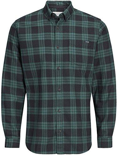 Jack & Jones -  Camicia Casual  - A quadri - Con bottoni  - Maniche lunghe  - Uomo Ponderosa Pine