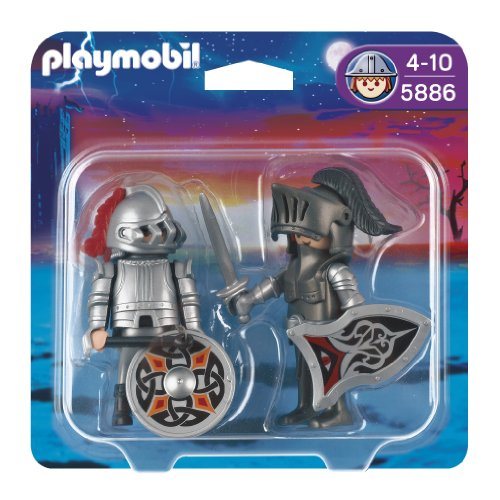 Imagen 1 de Playmobil - Pack de 2 figuras caballeros de hierro (5886)
