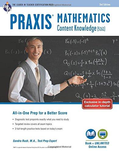 Praxis Mathematics: Content Knowledge (5161) Book + Online (Praxis Teacher Certification Test - 5161 Praxis-test