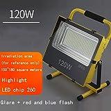 CLOUD Luz De Inundación Recargable Foco LED para Exteriores Proyector De Luz De Emergencia Resplandor Apagado Iluminación Portátil (Tamaño : 3)