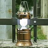 Tran Taran Solar Emergency Light Lantern, USB Mobile Charging Point, Rechargeable Night Light Travel Camping Lantern - Colour Will Be As Per Stock