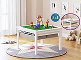 UTEX 2 In 1 Kinder Bau Play Tisch,weiß