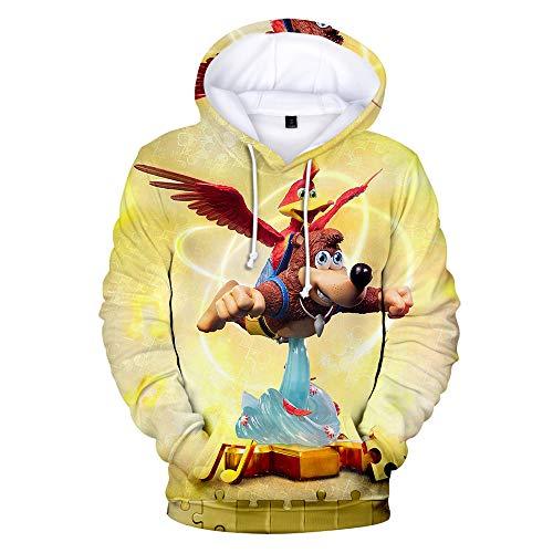 Denkqi Unisex 3D Druck Hoodie Kapuzenpullover Langarm Sweatshirt Kapuzenjacke Mit Tunnelzug Pullover Taschen Top Shirt Weihnachten Herbst Banjo Kazooie Nuts and Bolts XS -