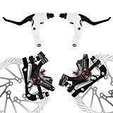 AFTERPARTZ NV-5 Fahrrad Scheibenbremse Umbausatz G3 160mm Scheiben V&H schwarze Bremssättel mit Bremshebel Griff und Bremskabel