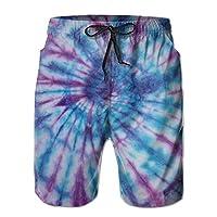 Vikimen Mens Swim Trunks Tie Dye Pattern Mens Quick Dry Swim Trunks Beach Shorts