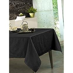 CALITEX Mantel damassee Stacy Negro 150x 300