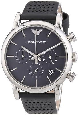 Emporio Armani AR1735 - Reloj para hombres, correa de cuero color gris