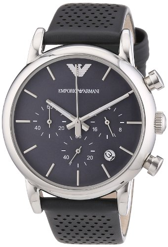 Emporio Armani Herren-Armbanduhr XL Chronograph Quarz Leder AR1735