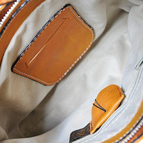 Pratesi Consuma petit sac - B465/P Bruce (Vert) Cognac