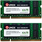 QUMOX Memoria SODIMM DDR2 Apple 4GB Kit (2x 2GB) PC2-6300 PC2-6400 800MHz para iMac y Macbook