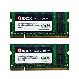 QUMOX Macmemory Arbeitsspeicher 4GB Kit (2x 2GB Module, PC2-6300, 800MHz, 200-polig) DDR2-SODIMM für iMac und Macbook Speicher