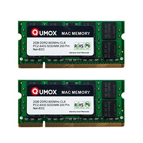 QUMOX Memoria SODIMM DDR2 Apple 4GB Kit 2X 2GB PC2-6300
