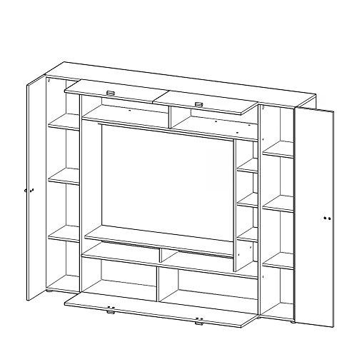 Wohnwand VIGO, Anbauwand, Wohnzimmer Möbel, mit Beleuchtung - 3