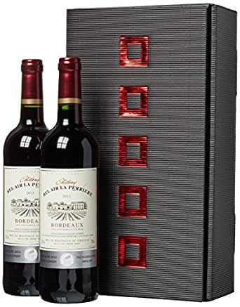 Weinset Chateau Bel Air la Perriere Bordeaux trocken (2 x 0.75 l)