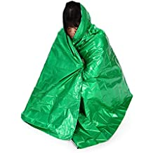Lixada 210 * 130 cm Manta Multifuncional Térmica de Seguridad Supervivencia Salvavidas para Cámping Viajes y Senderismo Al Aire Libre Verde
