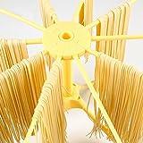 chuhe Pasta Trocknen Rack , 10Arme klappbar Haushalt Nudeln Trockner Rack zum Aufhängen Gelb Nudeln Trockner Ständer Halter