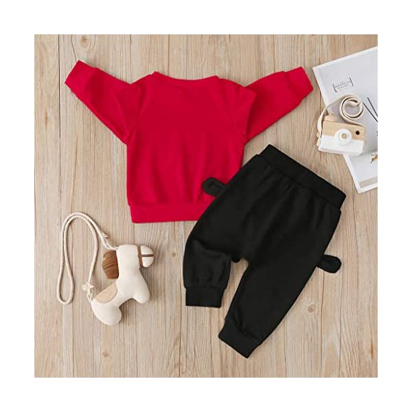 Tefamore Sudadera Niño Conjuntos Chicos y Chicas Conjuntos Chándales y Pantalones Deporte Casual Impresión de Streetwear… 2