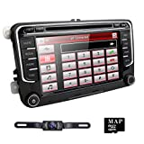 7 Inch Double DIN Bluetooth FM Full Map 3G Car Radio Sat Nav DVD GPS Radio RDS for VW Passat Golf 5 6 Touran Tiguan Transporter Multivan T5 Polo Jetta Caddy Skoda Seat Altea