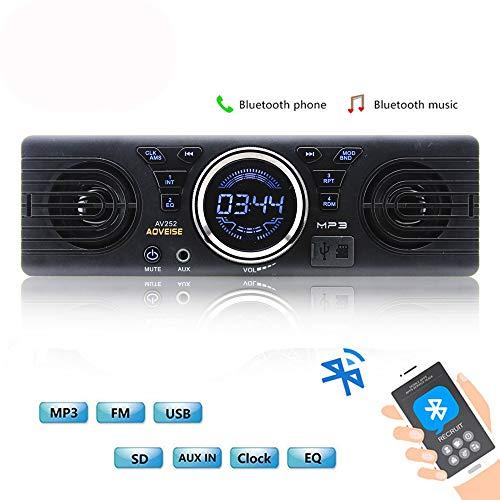 Boomboost AV252 12V voiture carte SD autoradio radio stéréo radio haut-parleurs intégrés avec haut-parleurs Bluetooth