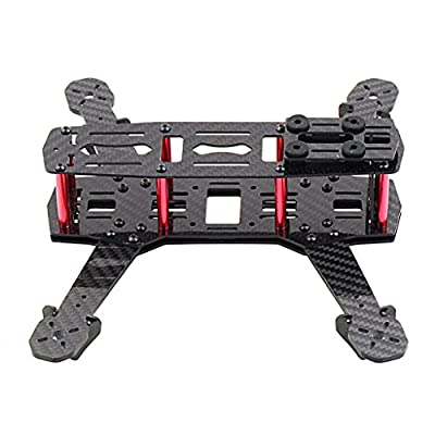 SODIAL(R) 250mm Mini Multicopter Quadcopter Racing Drone Glassy Carbon Frame Kit FPV QAV