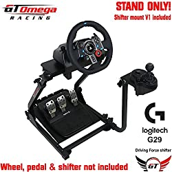 GT Omega Steering Wheel stand suitable For Logitech G25 G27, Thrustmaster T500RS and TH8RS shfiter. PS3 GT5 [Importación Inglesa]