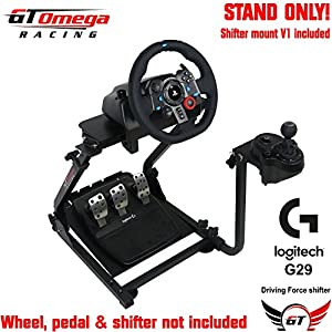 GT Omega Steering Wheel Stand Suitable for Logitech G25 G27, Thrustmaster T500RS and TH8RS shfiter. PS3 GT5 [Import Englische]
