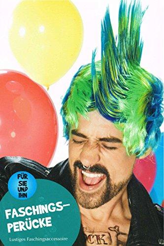 Karnevalsperücke - Karneval Perücke - Party Frisur Multicolor (Blondie Kostüm)