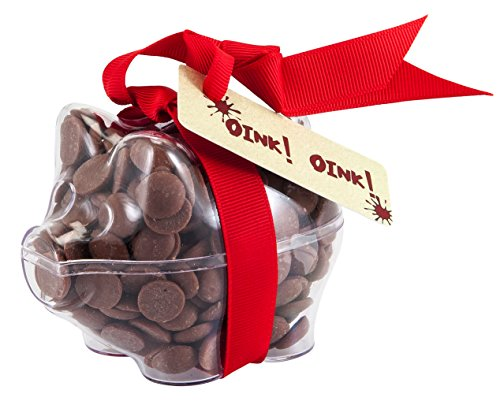 Price comparison product image Pig - 'Oink Oink' Chocolate Piglet. From the Belgian Milk Chocolate 'ButtonChocs' range.
