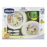 Chicco 68330Set piatti Chicco Set pappa da 12 mesi melamina 68330Specifiche:CaratteristicheSet piatti che aiutano il bambino a mangiare autonomamente grazie alla base antiscivolo, ad una speciale zona per appoggiare il cucchiaio e alle forme ...